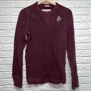 A&F Waffle Top Long Sleeve Thermal Small